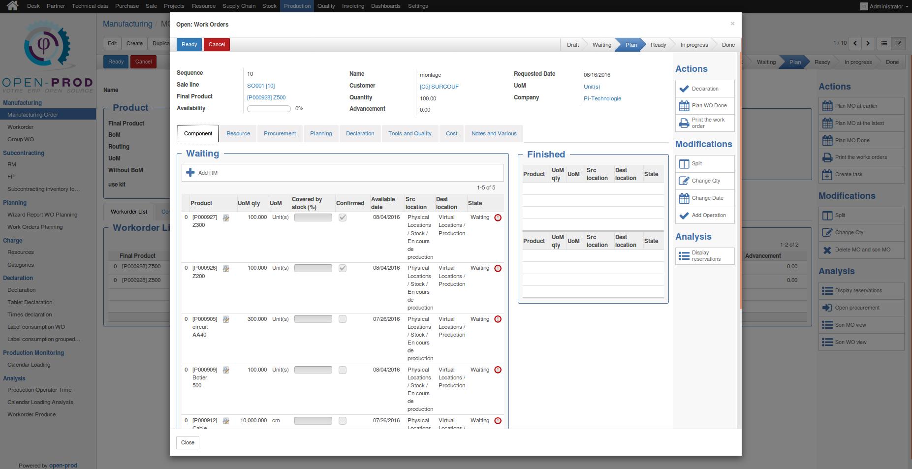 open-prod logiciel gestion de production