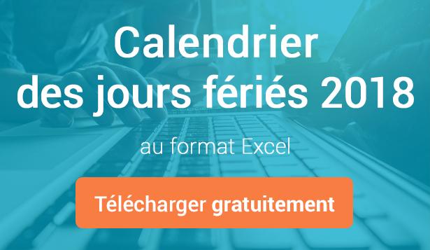 Télécharger gratuitement le calendrier des jours fériés 2018