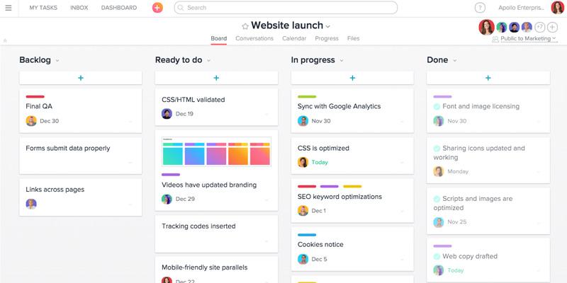Asana : outil de gestion de tâches et de to-do lists