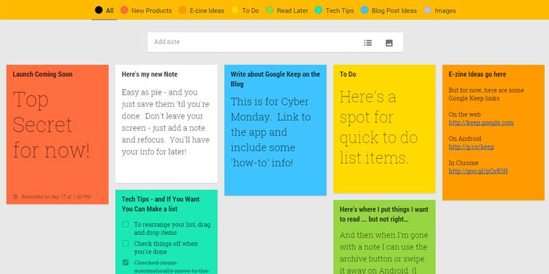 Faire sa todo avec Google Keep