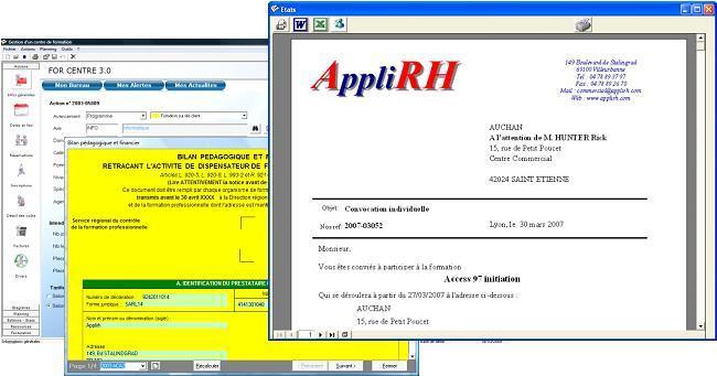 édition du bilan pédagogique et financier d'un organisme de formation avec le logiciel AppliRH