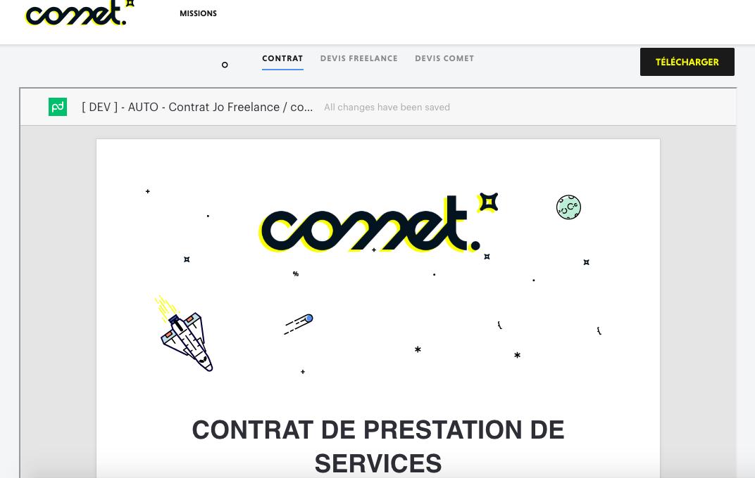 Trouver un développeur freelance sur la plateforme Comet