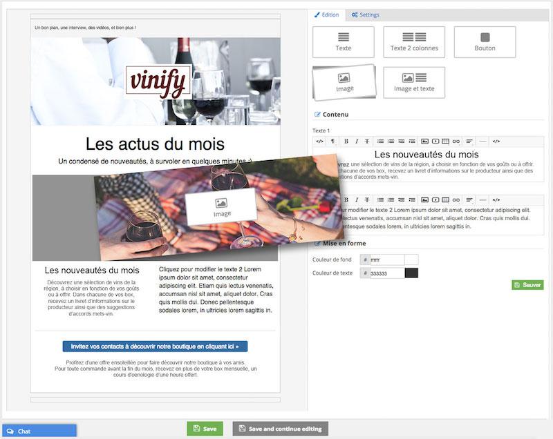 logiciel prestatataire payant : exemple d'un emailing marketing