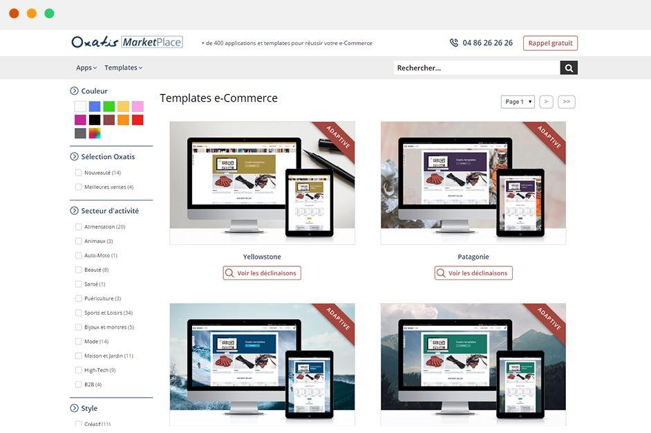 Oxatis plateforme e-commerce