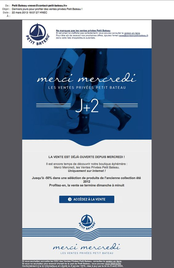 Emailing marketing : exemple de button call to action