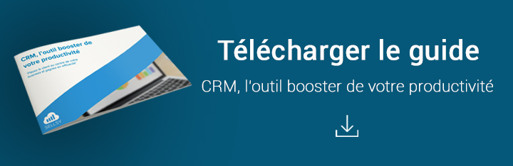 Télécharger le guide : CRM, l'outil booster de votre productivité