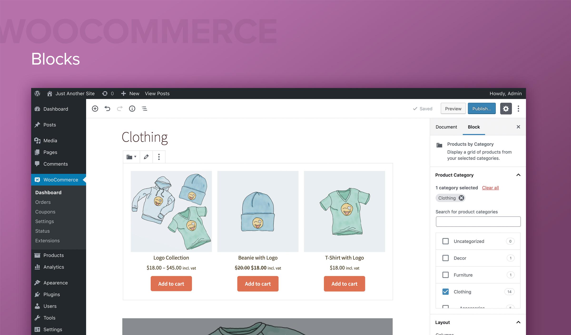 plateforme ecommerce WooCommerce