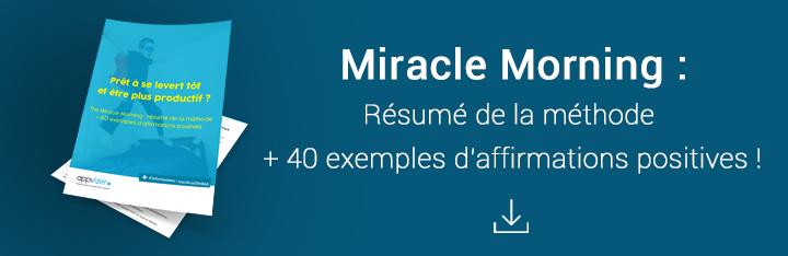 Résumé du Miracle Morning en PDF à télécharger