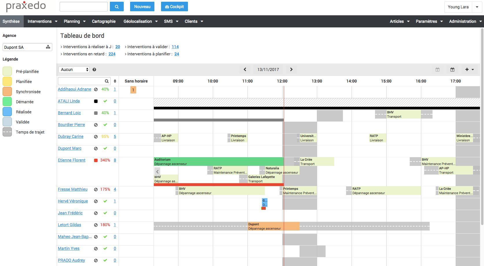 logiciel gestion de planing techniciens