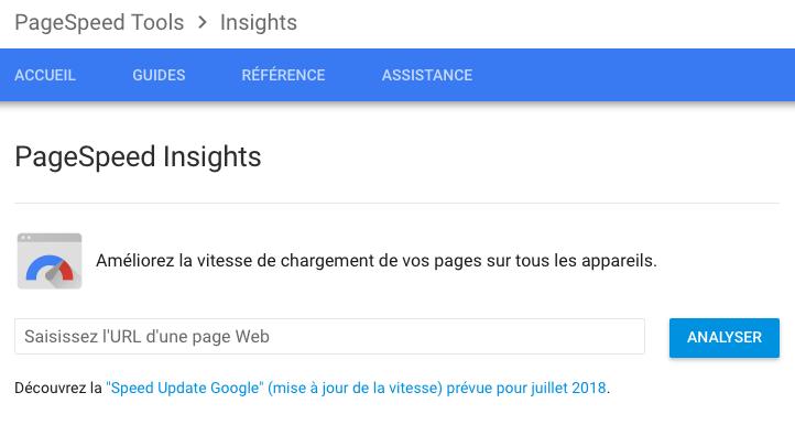 analyse de la performance d'un site web gratuit avec pagespeed insights de google