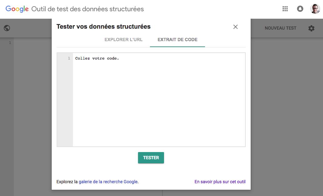 Google et son outil de test des données structurées