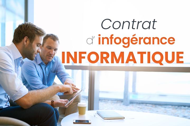 Contrat d'infogérance informatique et sauvegarde de données