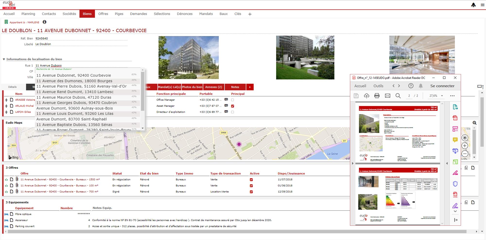 Le logiciel immobilier Eudonet CRM immobilier