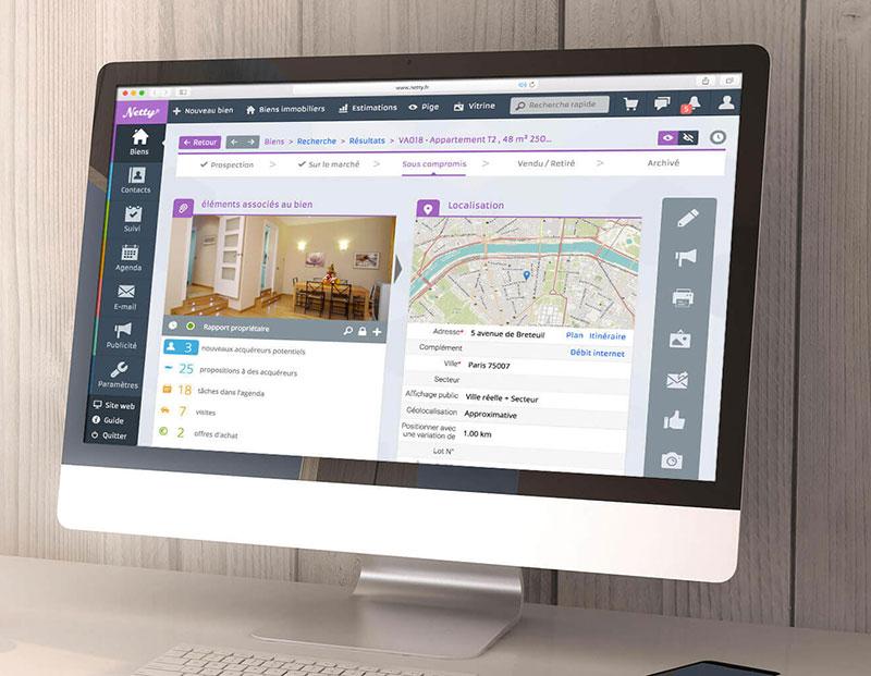 Netty logiciel avec passerelles Multidiffusion annonces immobilières