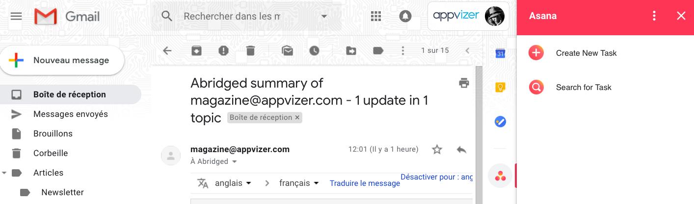 planifier un projet : créer une tâche depuis gmail