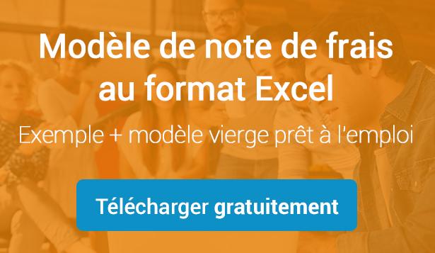Note de frais Excel modèle gratuit