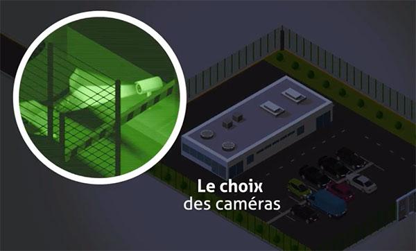 la vidéosurveillance pour surveiller les entrées de voiture dans un parking