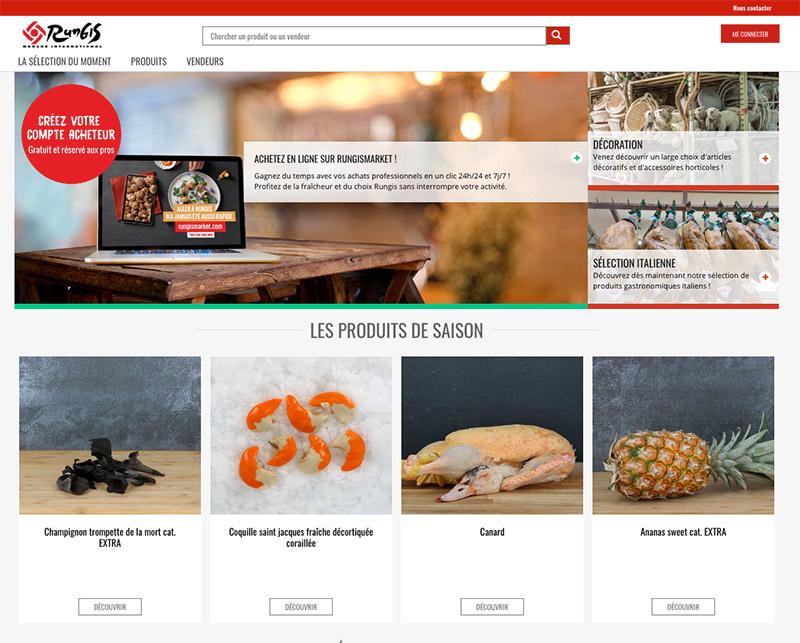 marketplace b2b marché Rungis réalisée avec Uppler