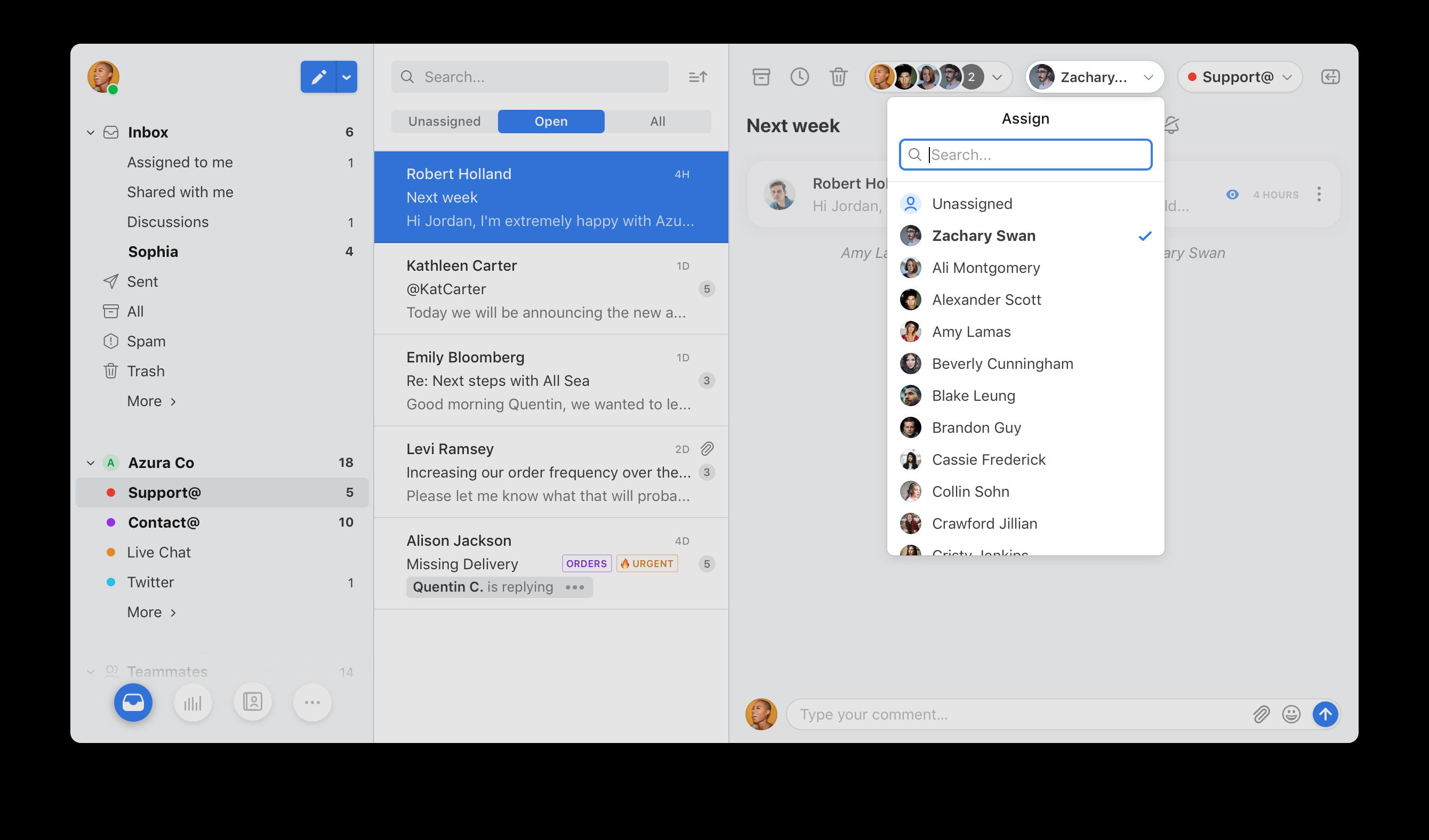 Communication unifiée : Front App