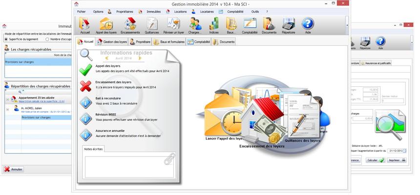 logiciel de gestion locative Emjysoft