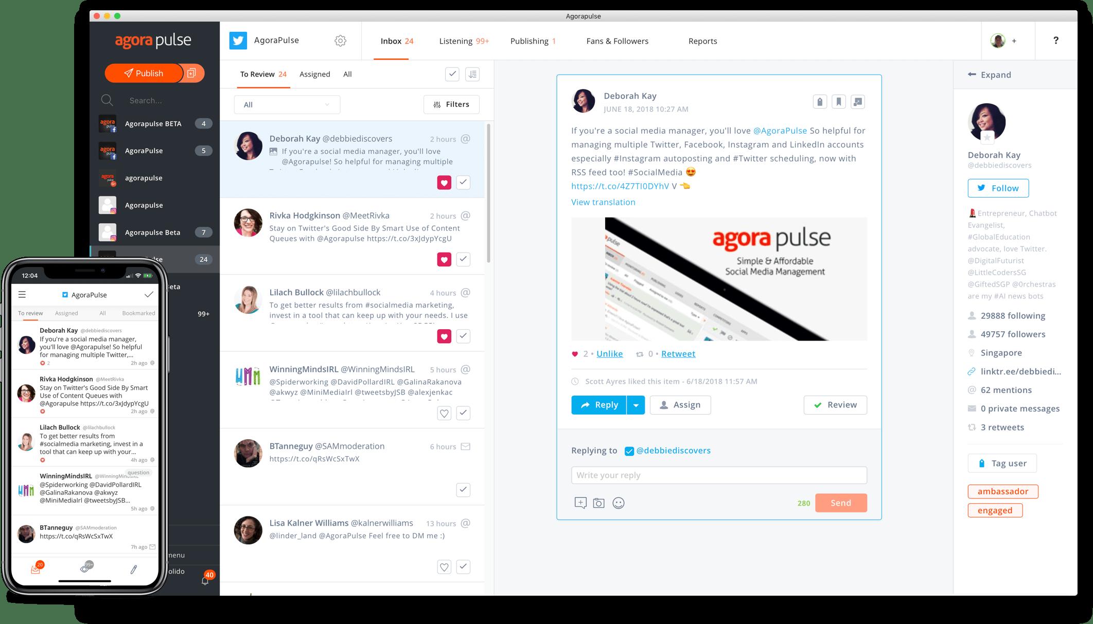 Agorapulse : outil de social media management