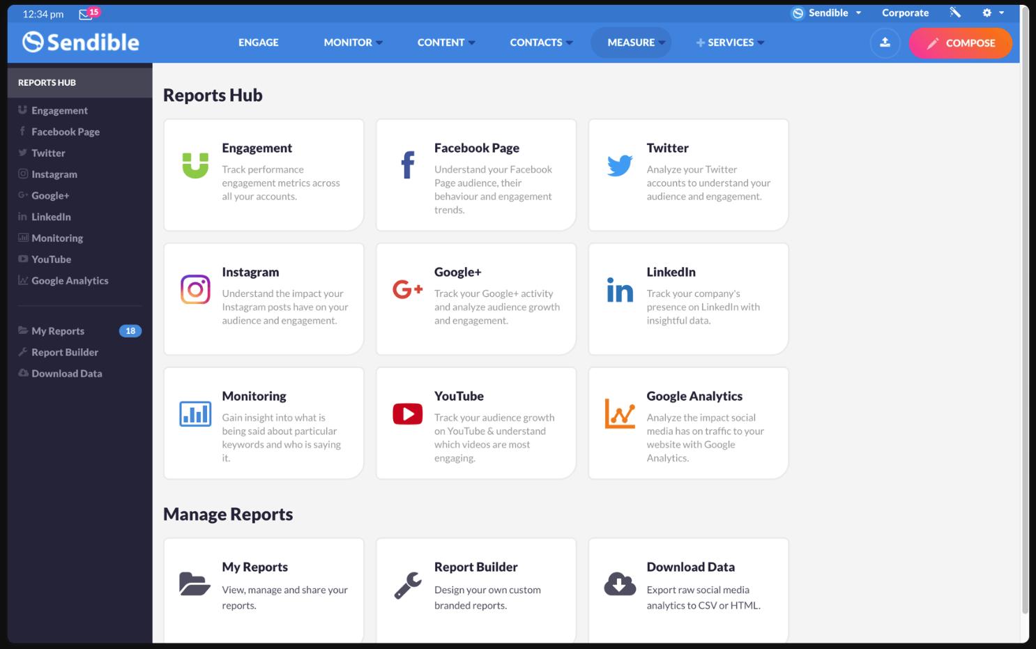Sendible : : outil de social media management