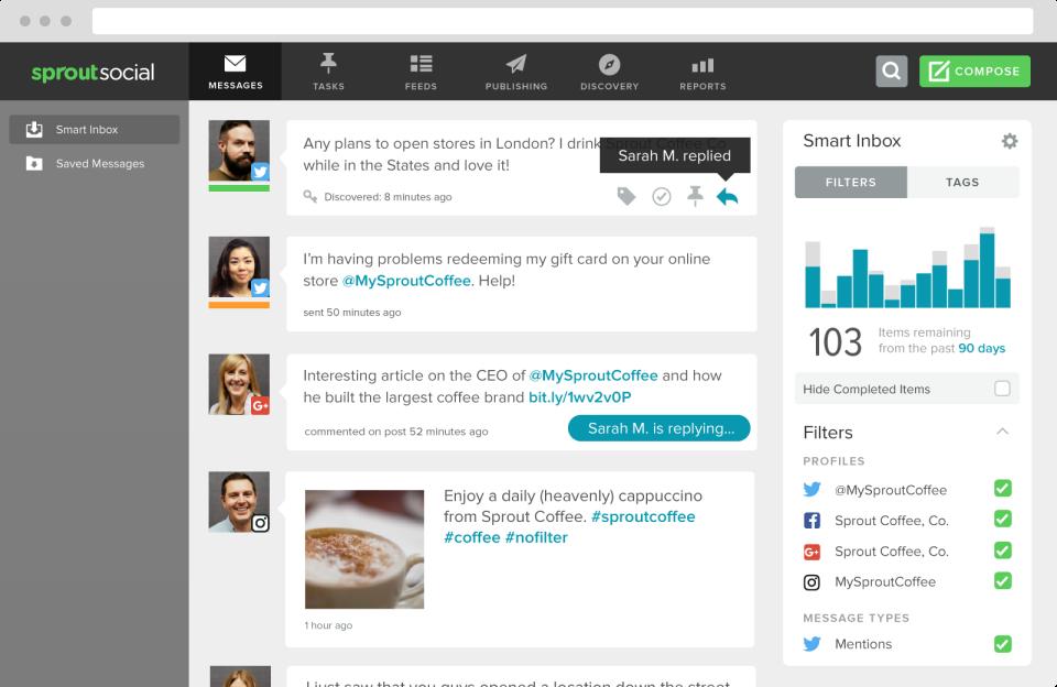 Sprout Social : outil de social media management