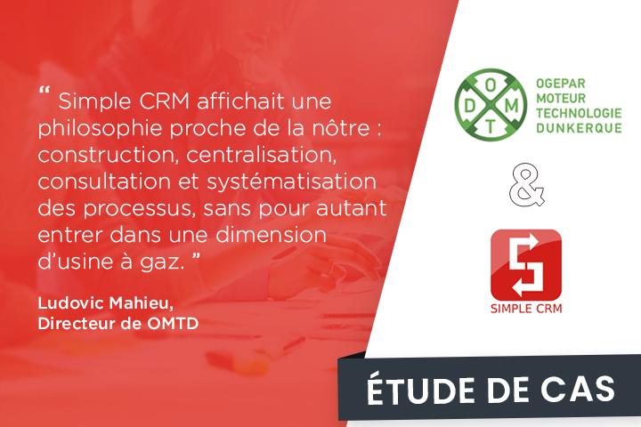 OMTD : le moteur de la réussite des industries, qui tourne au CRM collaboratif