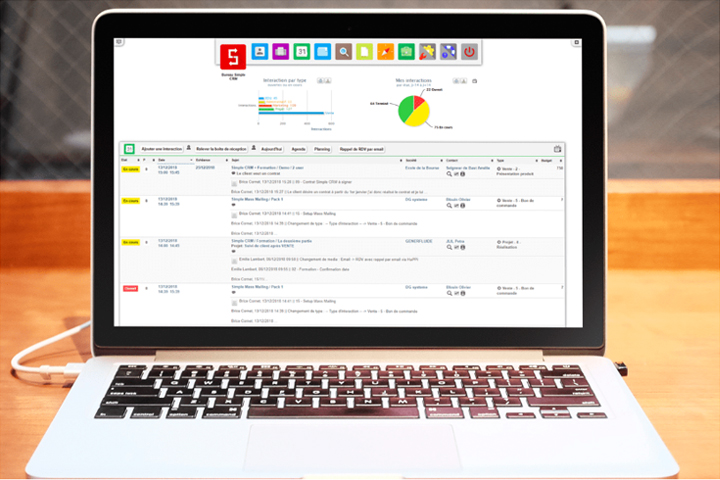 Simple CRM interface