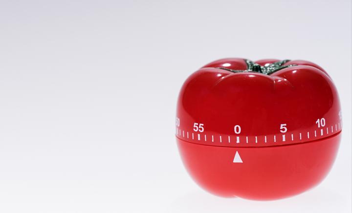 Technique Pomodoro minuteur forme tomate