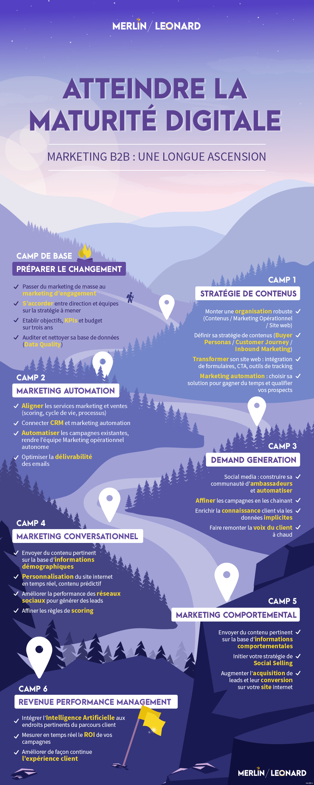 infographie sur la maturité du marketing digital