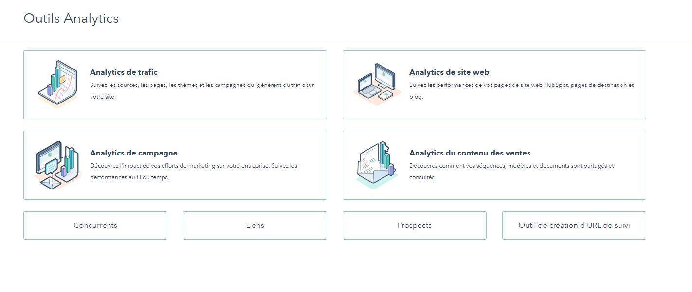 Les rapports analytiques dans HubSpot