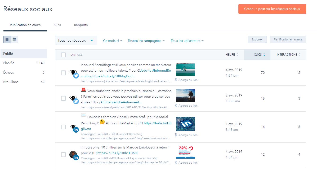 La fonctionnalité réseaux sociaux du logiciel HubSpot.png