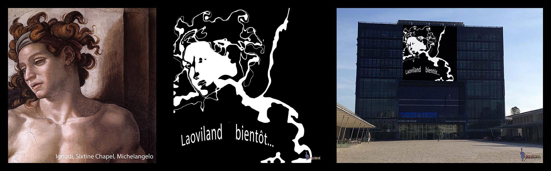 Création graphique sur bâtiment avec Laoviland