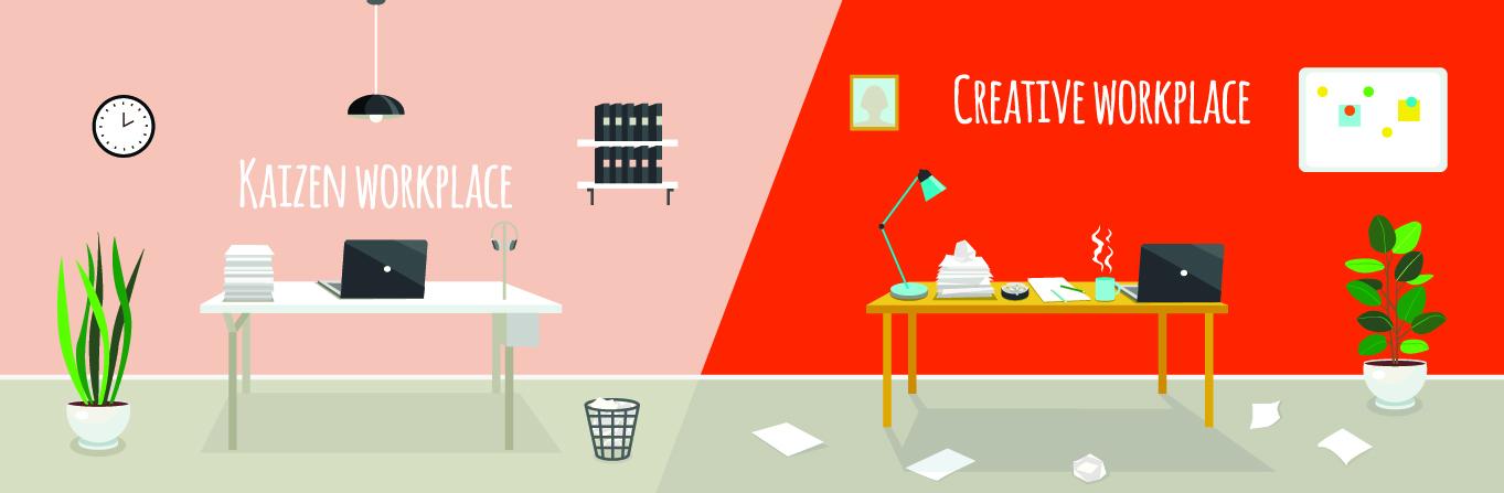Méthode kaizen vs creative workplace