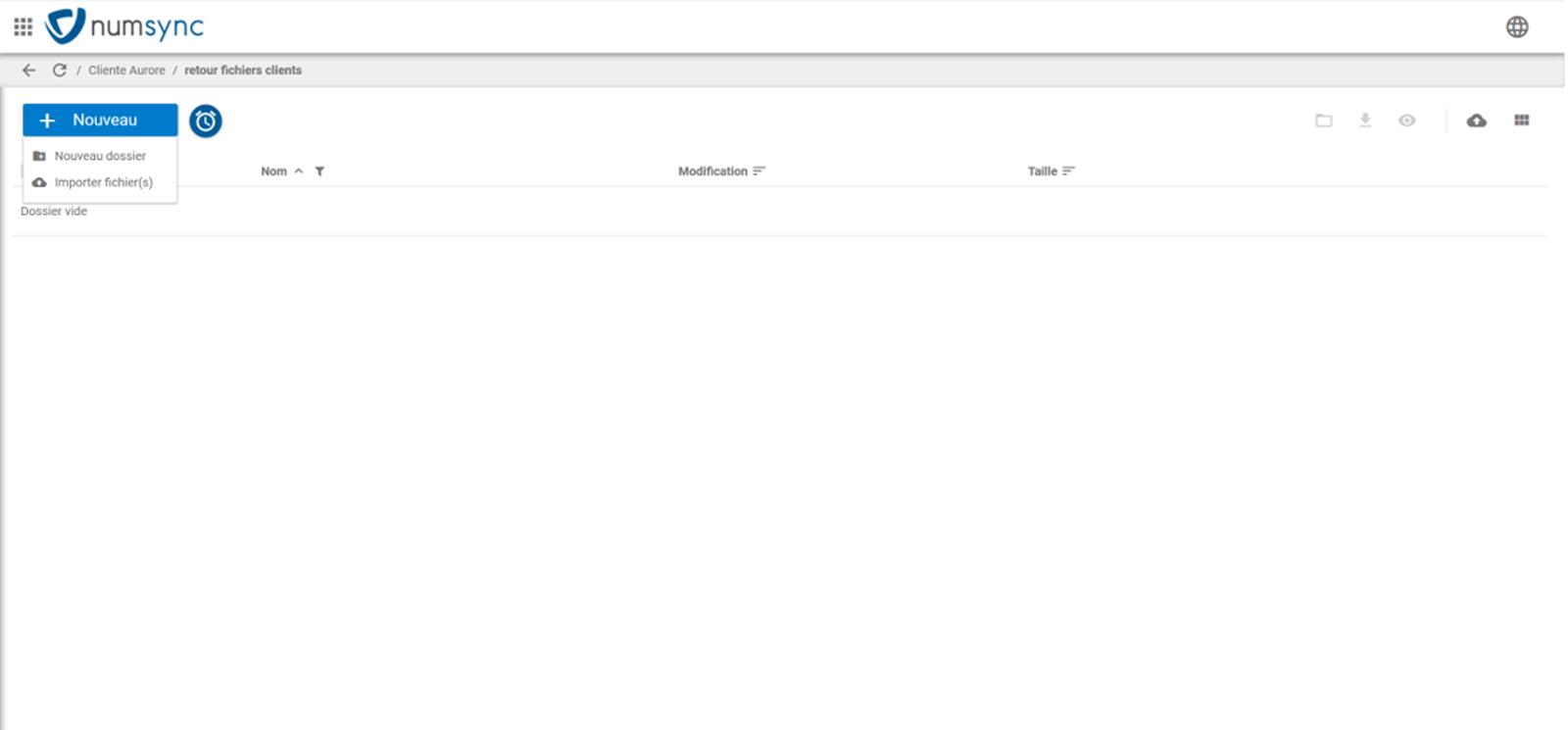 Numsync, collaboration dépôt de fichiers