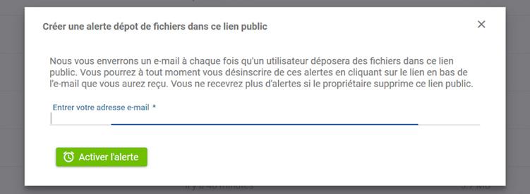 Numsync, alerte par mail lors d'un nouveau dépôt de fichier