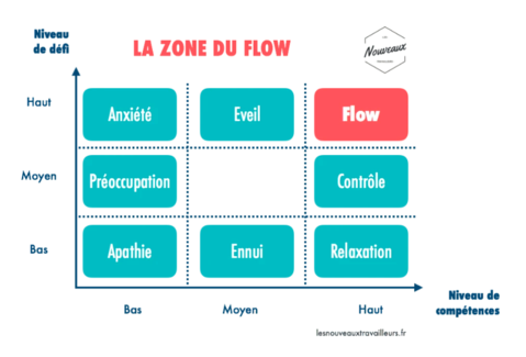 zone de flow : schéma