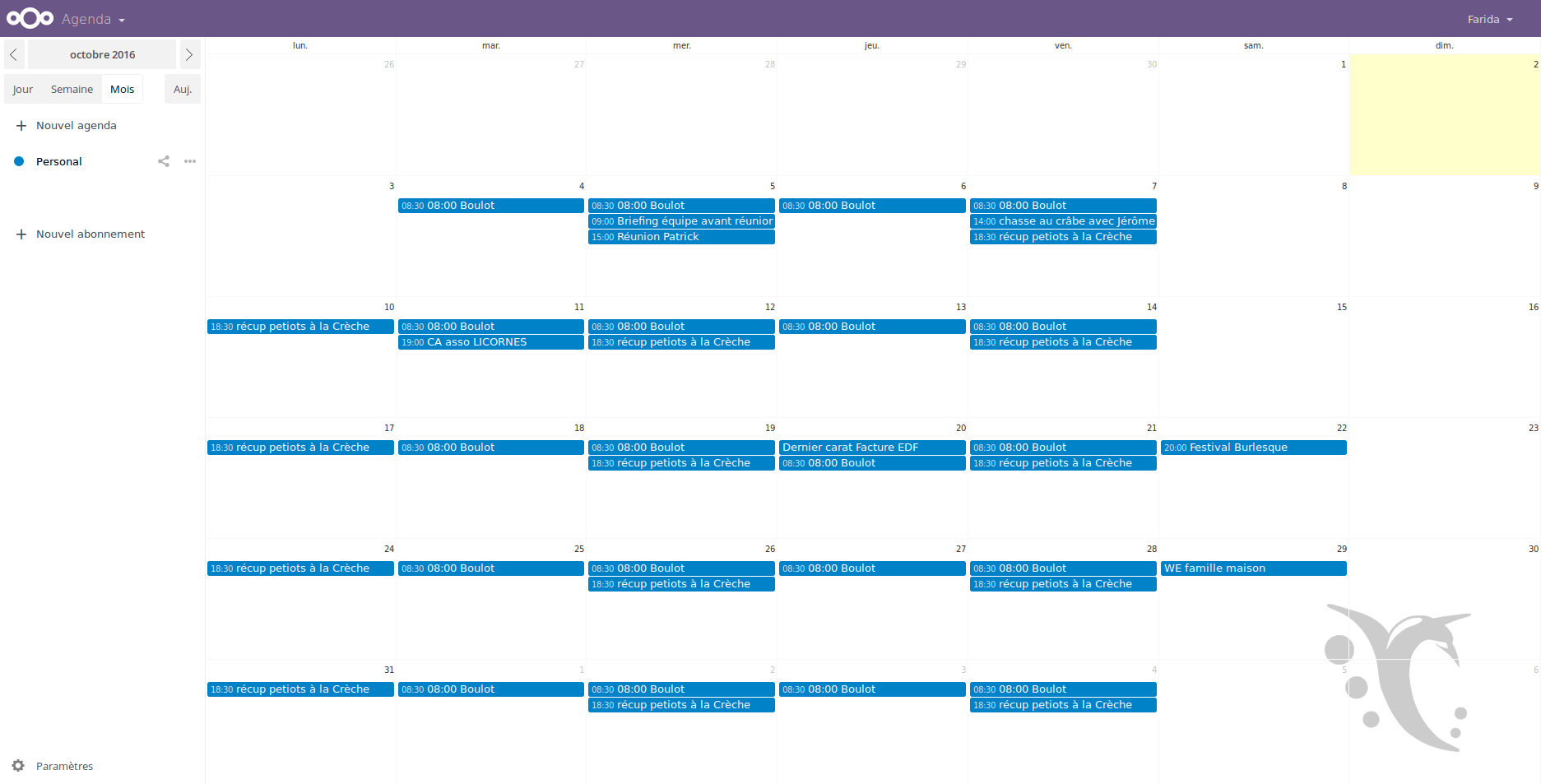 calendrier partagé : visuel framagenda