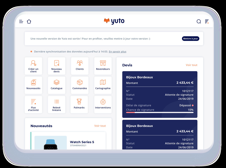 possibilités de mobilité - interface Yuto