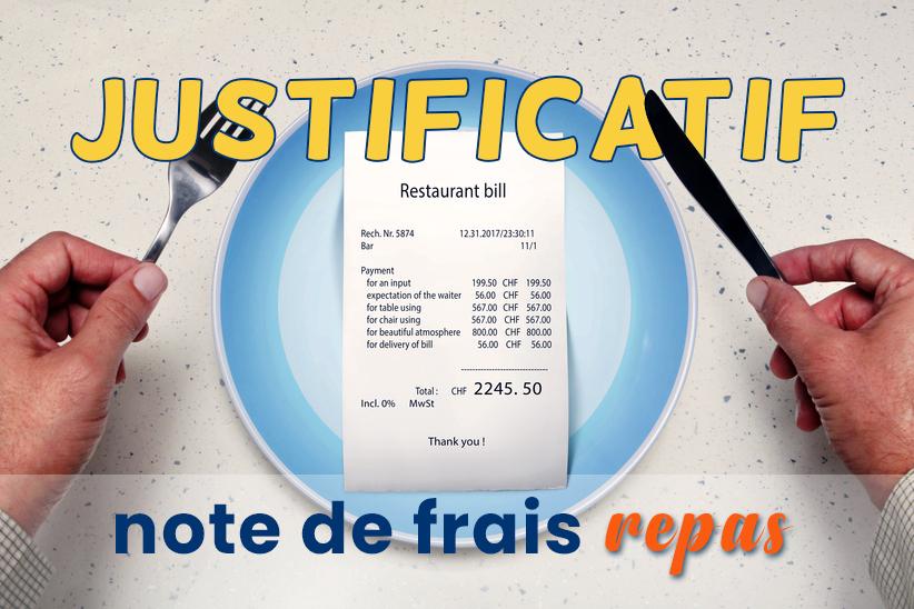 Comment gérer la note de frais repas et quel justificatif accepter ?