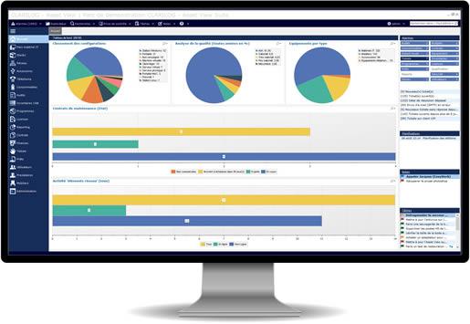 gestion de parc informatique : visuel Asset View Suite Clarilog
