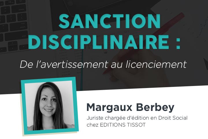 Sanction disciplinaire : de l'avertissement au licenciement
