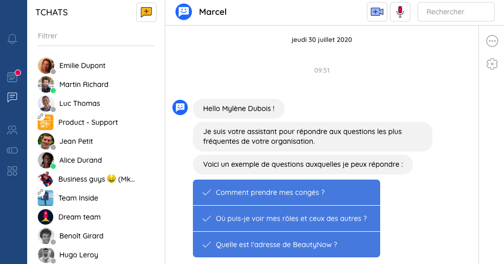 Tutoriel Talkspirit : chatbot Assistant FAQ