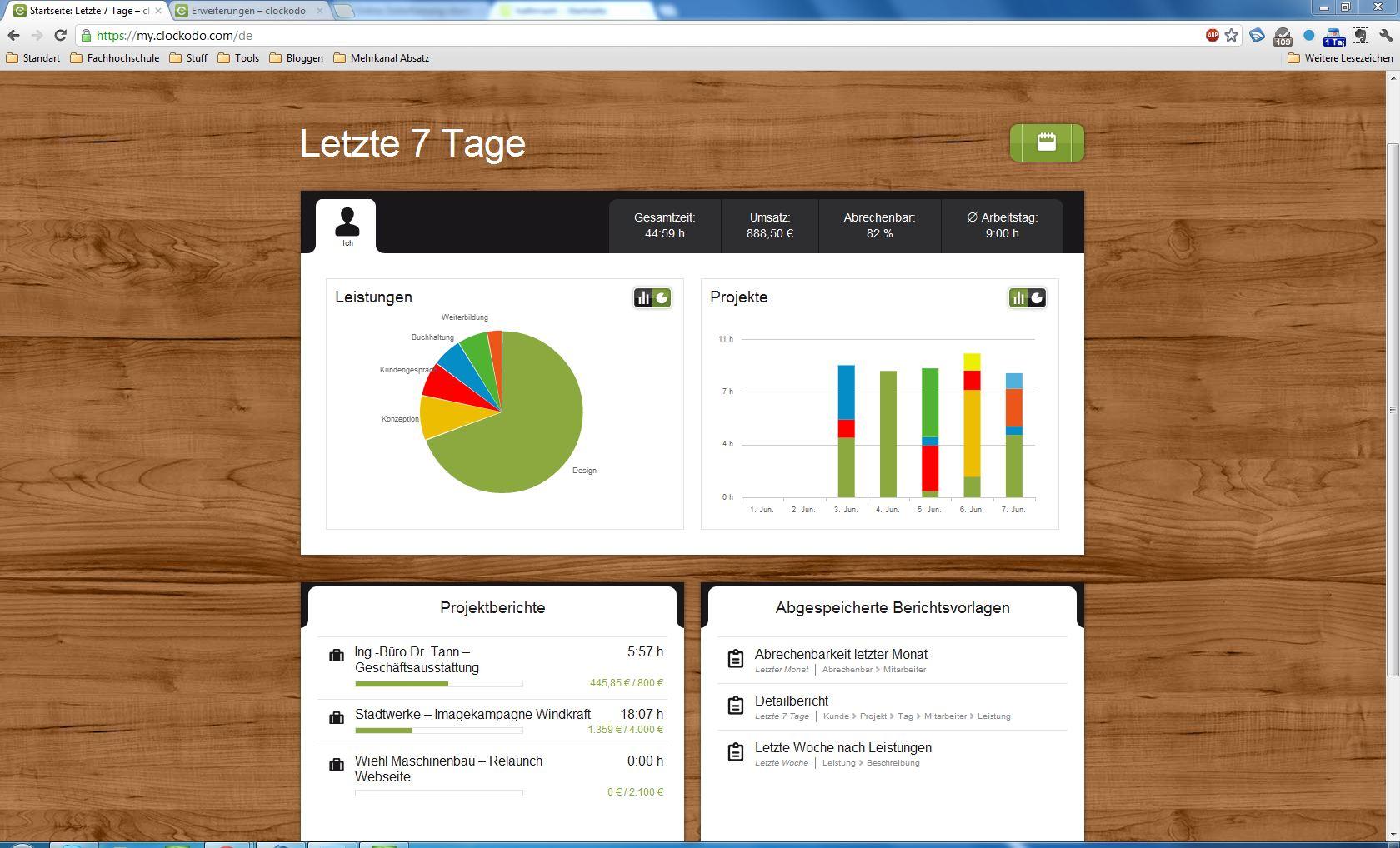 Lohnabrechnung - Outsourcing oder Internalisierung: Software Clockodo