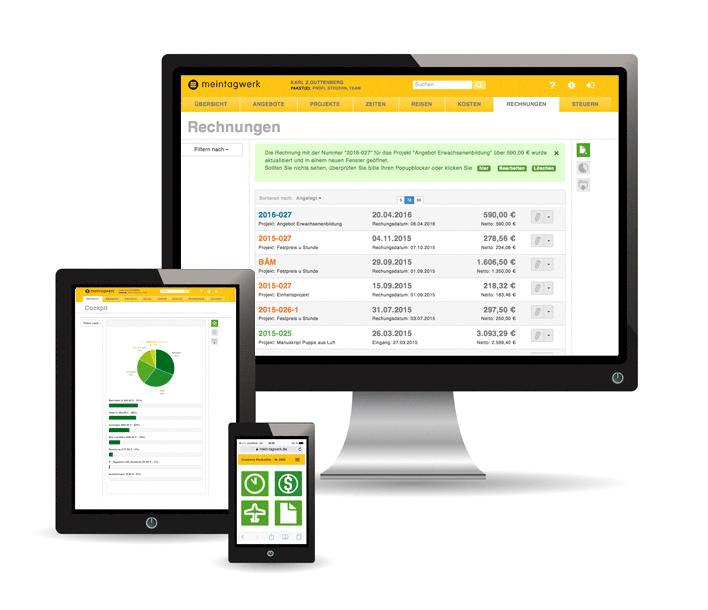 Tagwerk Online-Buchhaltung für Freelancer und Selbstständige