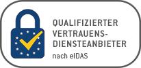 Qualifizierter Vertrauensdiensteanbieter Logo nach eIDAS