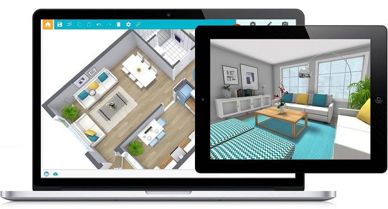 HomeSketcher Bildschirmansicht: 3D-Modelle für Ihr Raumdesign