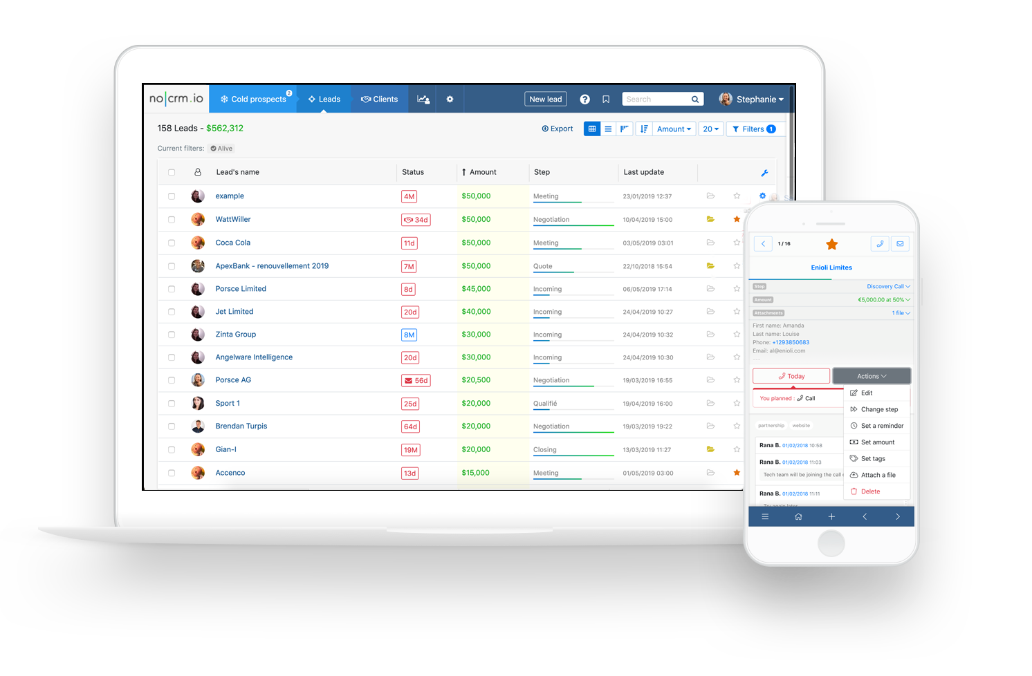 noCRM.io Lead Management und Prospect Management