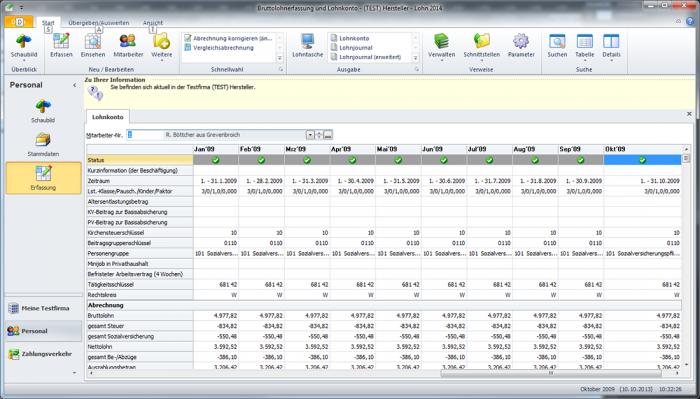 WISO Lohn Gehalt Screenshot Lohnabrechnung Software